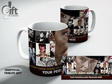 DAVID BOWIE MUSIC WALL Personalised  TRIBUTE White Coffee MUG, MUG GIFT