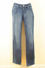 ROCK & REPUBLIC Blue Denim Embroidery Branded Pocket Straight Leg Jeans Sz:29