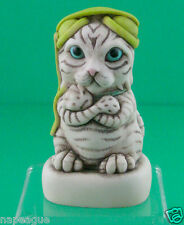 Harmony Kingdom-MAJOR TOM V2-CAT w/GREEN Headphones-LTD.ED.200 pcs.