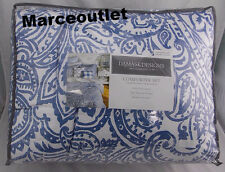 Charter Club Damask Designs Paisley Denim TWIN Comforter & Sham Set White Blue