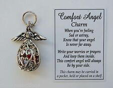 z COMFORT ANGEL guardian prayer box CHARM pendant loss loved one sympathy ganz