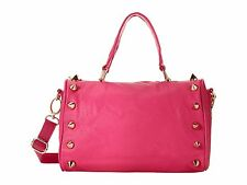 NWT DEUX LUX EMPIRE STATE DUFFLE HOT PINK LIPSTICK SPIKES BAG PURSE RETAIL $170