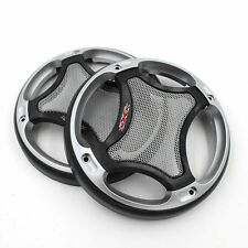 Pair 5.5'' 138mm ABS Speaker Coaxial Steel Mesh Grille Cover Woofer Universal