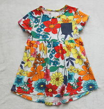 ***BNWT Next baby girl Bright Floral cotton tunic dress 9-12 months***