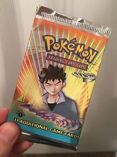1st Edition Gym Heroes Sealed Booster Pack Pokemon Cards Mint SUPER RARE! 3