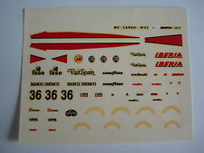 DECALS 1/43 F1 KIT MC LAREN M23 IBERIA 1977 DRIVER VILLOTA 1/43 DECALS
