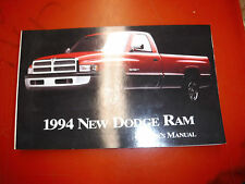 1994 DODGE RAM PICK UP TRUCK  FACTORY OWNERS MANUAL OPERATORS GLOVE BOX BOOK