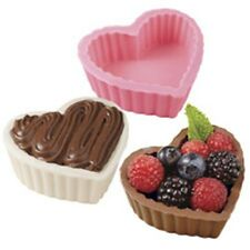 Wilton 3 Cavity Valentines Day Heart Shaped Dessert Candy Chocolate Shell Mold