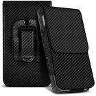 Black Carbon Fiber Belt Clip Holster Case For Panasonic Lumix Smart Camera CM1