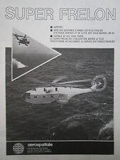 11/1974 PUB AEROSPATIALE HELICOPTERE SUPER FRELON MARINE NATIONALE FRENCH AD