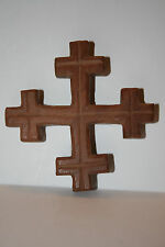 Hand Crafted Wooden Jerusalem Cross - 3 3/8 X 3 3/8 inches