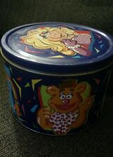 Vintage THE MUPPETS Cookies Tin Kermit Ms Piggy Animal Vintage Case