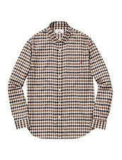 Supreme x Aquascutum Collab Flannel Check Shirt Size M Medium Soft Authentic