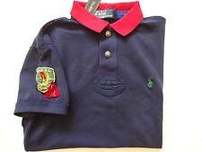 New Ralph Lauren Polo Custom Fit 100% Cotton Navy Indian Patch Summer Shirt L