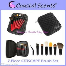 NEW Coastal Scents 7-Piece CiTiSCAPE TRAVEL BRUSH SET Zipper Case FREE SHIPPING