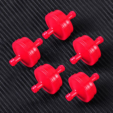 """New 5x 1/4"""" Red Inline Fuel Filter Replacement 298090 fit for Briggs & Stratton"""