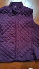 Preowned quilted vest Plus Size 4X (runs small)Purple