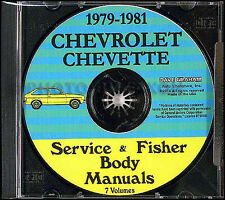 Chevette Shop Manual CD 1979 1980 1981 Chevrolet Repair Service for Gas Diesel