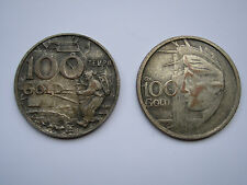 2 MEDAGLIE MONETE LUNARI 100 GOLD APOLLO 11/12 TEMPO 1969 COIN TOKEN JETON MEDAL