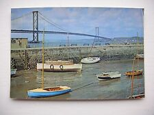 Forth Road Bridge from South Queensferry  --  J Arthur Dixon.