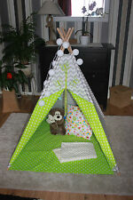 kids playroom childrens hand made READY TO SEND teepee tipi wigwam tent with mat