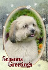 Lhasa Apso Dog A6 Christmas Card Design XLHASA-8 by paws2print