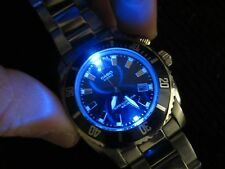 Rare Mens MTD1052 Casio Super Illuminator Divers Watch Blue Stainless LED