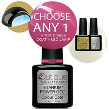 QUTIQUE Gel Nail Polish Colour Kit LED Lamp -Everything you need to get started