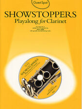 Guest Spot SHOWSTOPPERS Clarinet Music Book Playalong