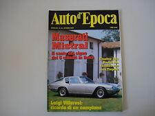 AUTO D'EPOCA 10/1997 MASERATI MISTRAL/DE TOMASO VALLELUNGA/ALFA ROMEO RL FALCO