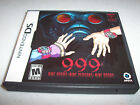 Nine Hours Nine Persons Nine Doors 9 999 Nintendo DS w/Case & Manual