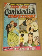 TEEN-AGE CONFIDENTIAL CONFESSIONS #1 FN/VF (7.0) CHARLTON COMICS JULY 1960