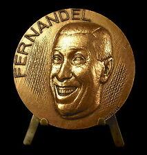 Médaille à l'acteur humoriste & chanteur Fernand Contandin, dit Fernandel Medal