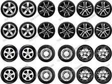 24 Car Wheels Tyres Edible Rice Paper Birthday Cup Cake Toppers