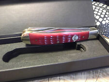 BOKER LARGE TRAPPER RED JIGGED BONE GERMAN S.S. MADE IN GERMANY BY HAND SUPERIOR