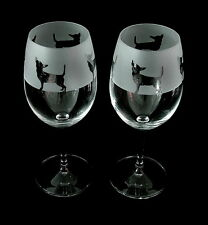 Chihuahua Dog Wine Glasses classic tulip shape