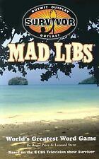 Survivor Mad Libs