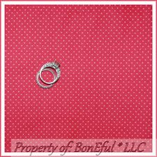 BonEful FABRIC FQ Cotton Quilt Pink Rose Pin Tiny Small Little Calico Polka Dot