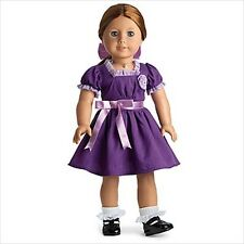 American Girl EMILY DRESS PURPLE CHRISTMAS HOLIDAY NIB NO DOLL
