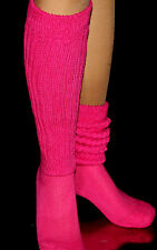Fushia Slouch Knee Socks work out Hooters Uniform Long Thick soccer school