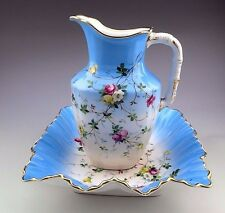 Antique C. T. Hand Painted Pitcher and Bowl Wash Basin