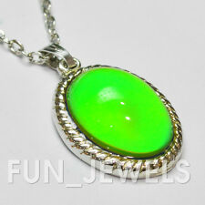 New Vintage Style Multi Color Changing Oval Stone Mood Necklace Free Chart