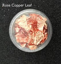 Foil Nail Art Leaf - Rose Copper Flakes For Nail Art 3ml Pot