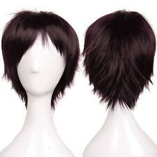 100% Brand New Short Full Head Wig Cosplay Party Daily Dress Synthetic Green BI