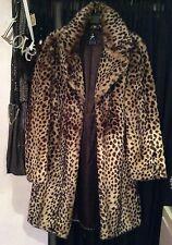 Primark Atmosphere Leopard Fur Coat 10 12 14 Boho Vintage Indie Grunge Rock
