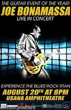 JOE BONAMASSA 2013 SALT LAKE CONCERT TOUR POSTER-Experience The Blues Rock Titan