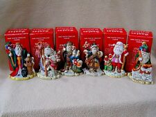 6 Vintage 1991 Santa of the Nations porcelain Christmas figurines/Complete set