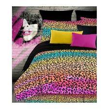 Leopard Print Comforter Set Queen Bedding Rainbow Animal Bedspread Sham Teen 4pc