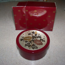 Vintage NEW AVON Imari Treasure Cache Trinket Jewelry Box Bowl Floral Lacquer