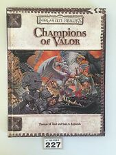 DUNGEONS & DRAGONS FORGOTTEN REALMS CHAMPIONS OF VALOR CAMPAIGN HARDBACK